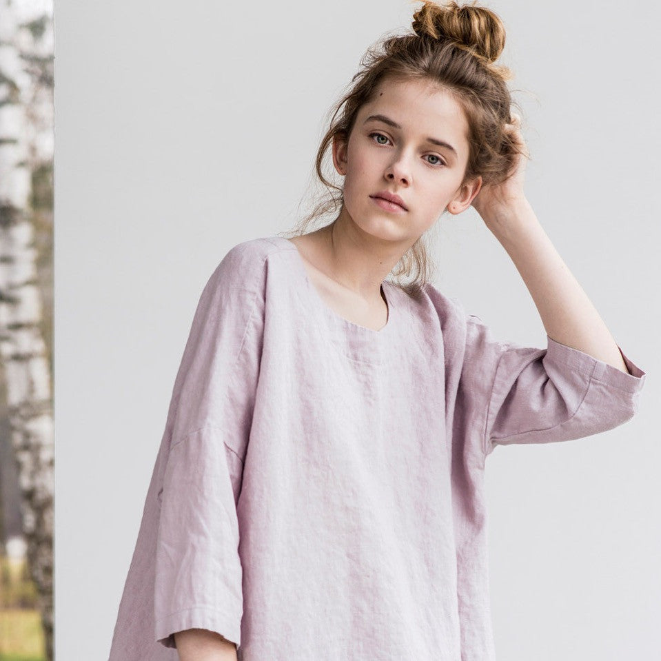 Abi Kimono Oversized Linen Top - Soul Made Boutique