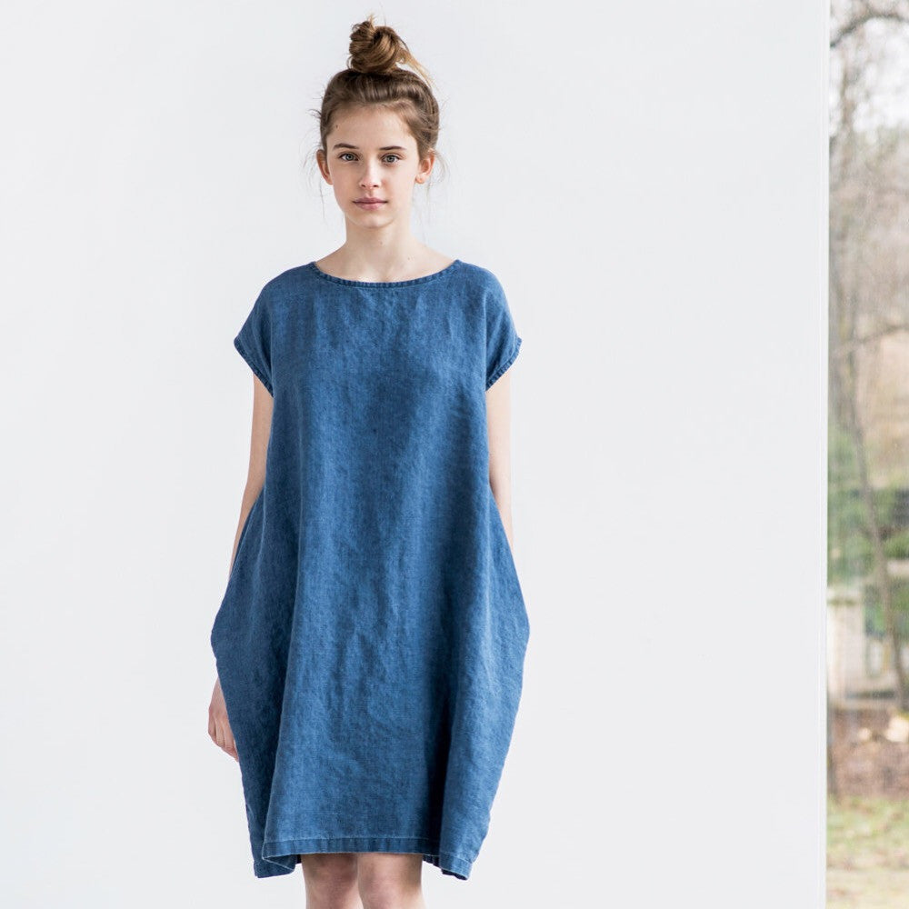 Rachael Oversized Cacoon Linen Dress