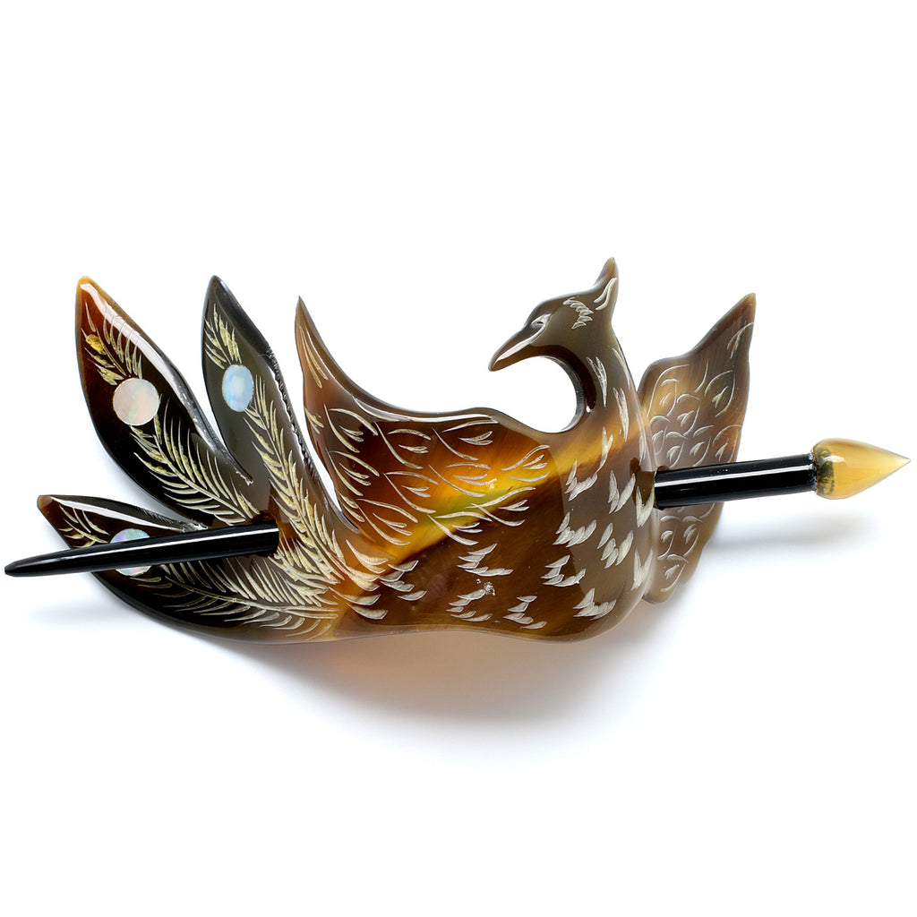 Charismatic Wanderlust Collection - Horn Barrette Phoenix - Soul Made Boutique