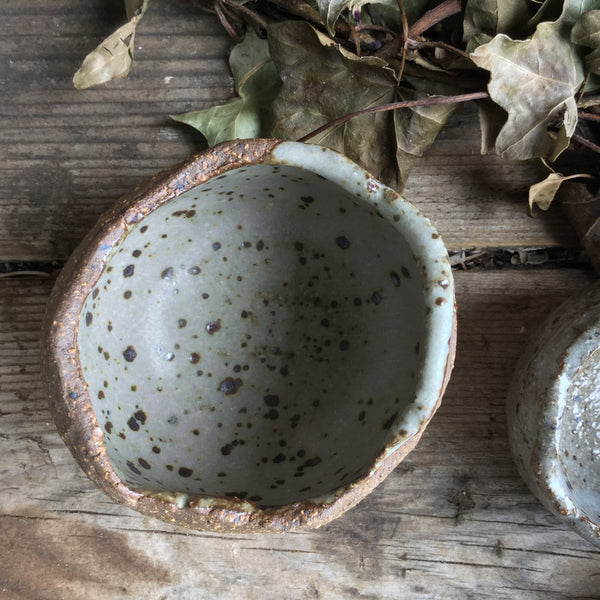 Rustic Robin Egg Blue Speckled Bowl