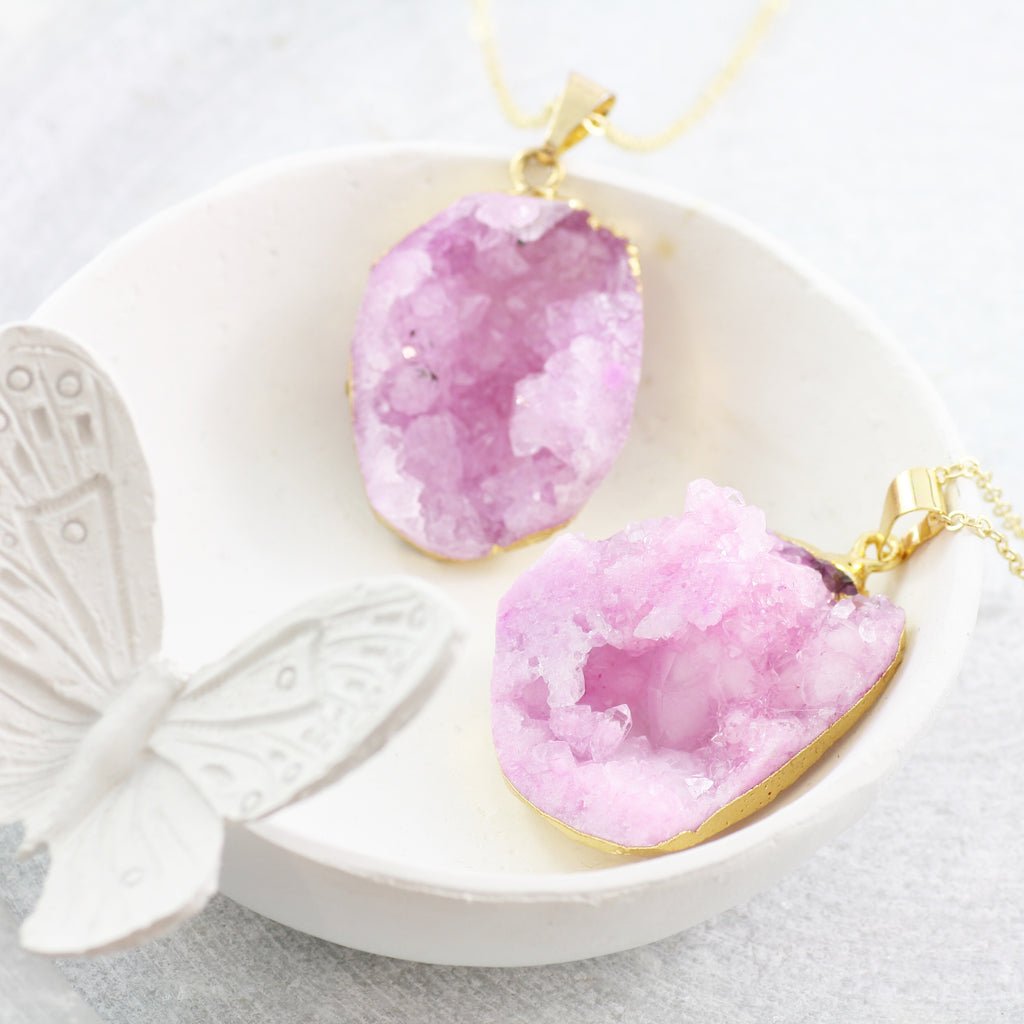 Adore Gemstone Collection - Druzy Raw Necklace