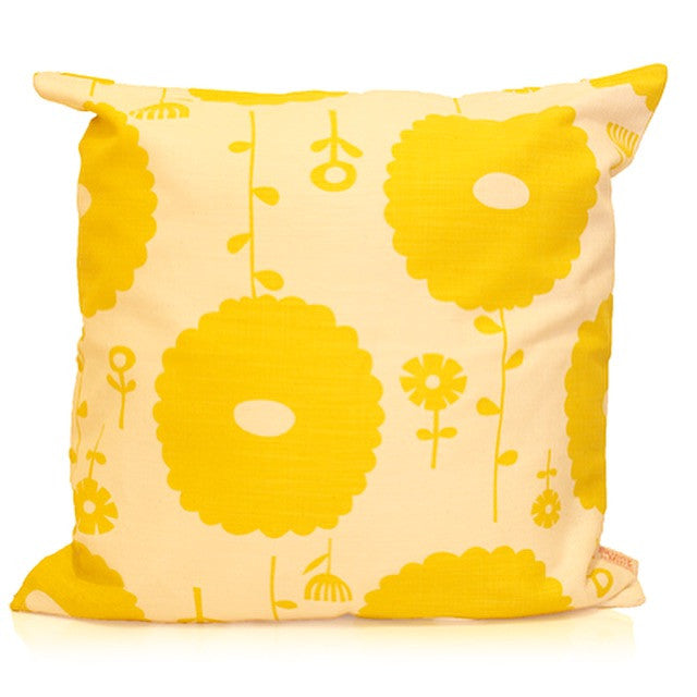 Screen Printed Flower Dreams Cushion Cover