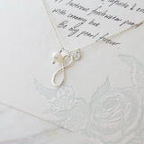 Amor Personalised Collection - Necklace Sterling Silver Pearl Infinity - Soul Made Boutique