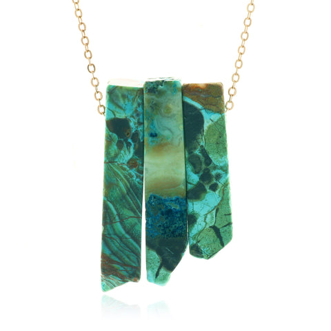 Adore Gemstone Collection - Agate Bar Strand Necklace
