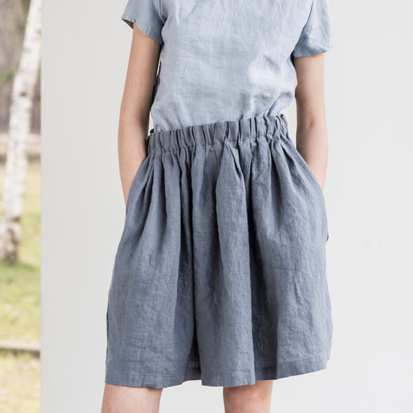 Chase Simple Linen Skirt - Soul Made Boutique