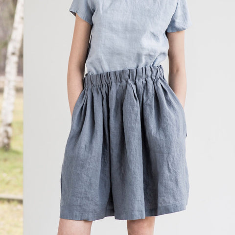 Chase Simple Linen Skirt