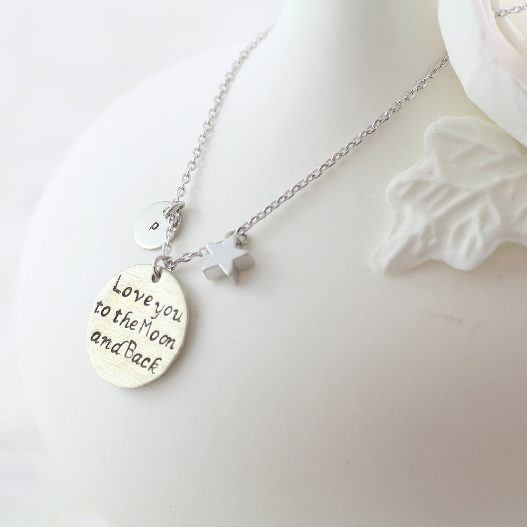 Amor Personalised Collection - Necklace Love You to the Moon and Back - Soul Made Boutique
