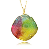 Adore Gemstone Collection - Solar Quartz Rainbow Necklace - Soul Made Boutique