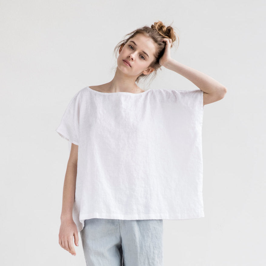 Lila Oversized Linen Top