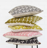Screen Printed Solid Orla Cushion Cover