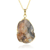 Adore Gemstone Collection - Agate Oval Necklace - Soul Made Boutique