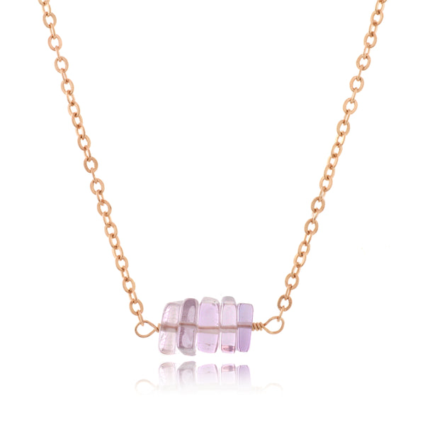 Adore Gemstone Collection - Amethyst Strand Necklace - Soul Made Boutique