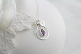 Amor Personalised Collection - Necklace Sterling Silver Infinity Gemstone Amethyst - Soul Made Boutique