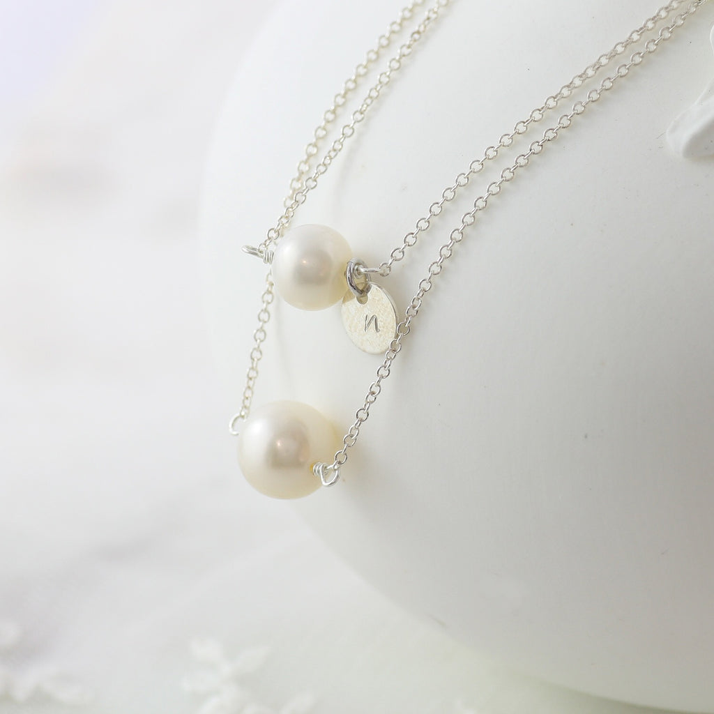 Amor Personalised Collection - Necklace Sterling Silver Pearl - Soul Made Boutique
