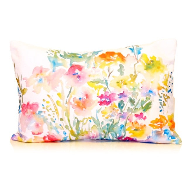 Watercolor Painting Floral Cushion Cover