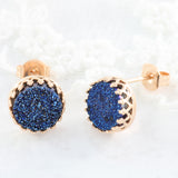 Adore Gemstone Collection - Druzy Round Pendant Earrings
