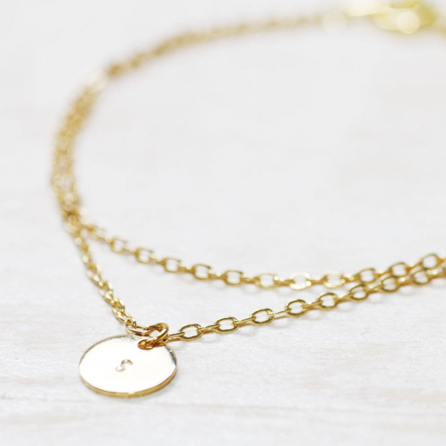 Amor Personalised Collection - Bracelet Layered Small Disc - Soul Made Boutique
