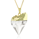 Adore Gemstone Collection - Quartz Pointed Necklace - Soul Made Boutique