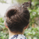 Charismatic Wanderlust Collection - Horn Hairpin Lily Leaf - Soul Made Boutique