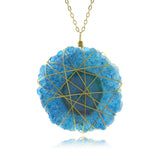 Adore Gemstone Collection - Solar Quartz Wire Wrapped Necklace