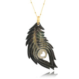 Charismatic Wanderlust Collection - Horn Necklace Love Feather - Soul Made Boutique