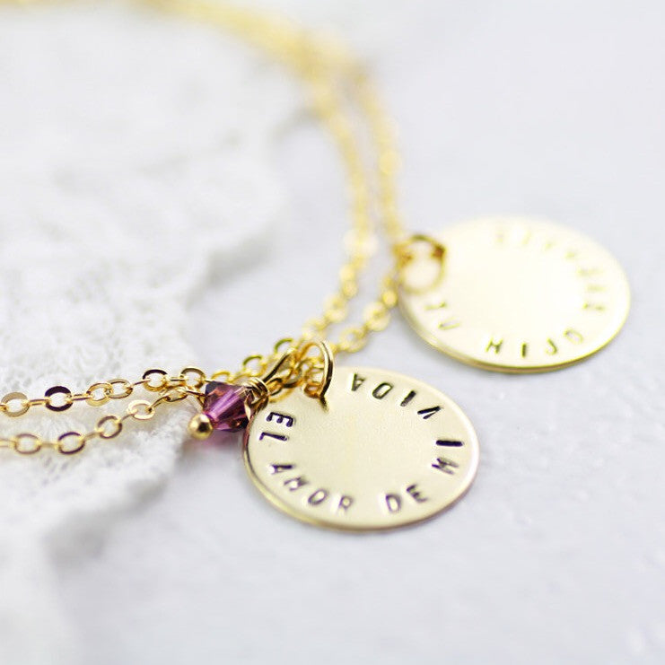 Amor Personalised Collection - Bracelet Layered Disc - Soul Made Boutique