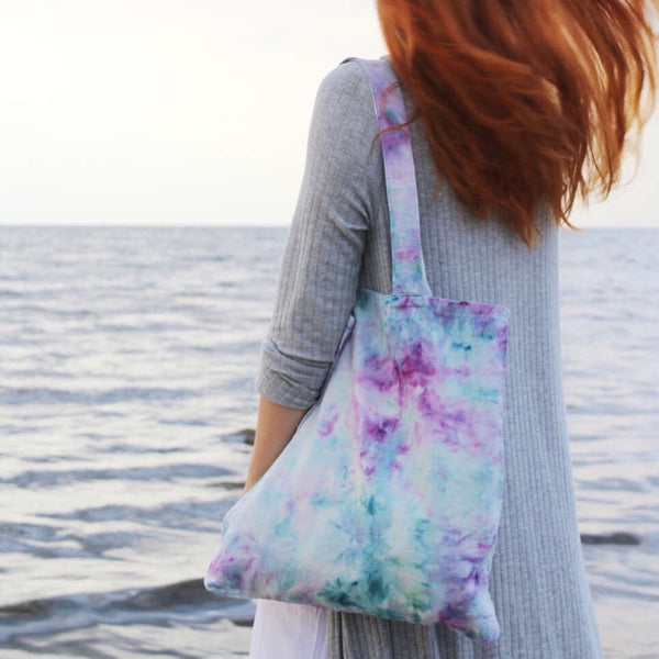 Watercolor Hand Dyed Bag