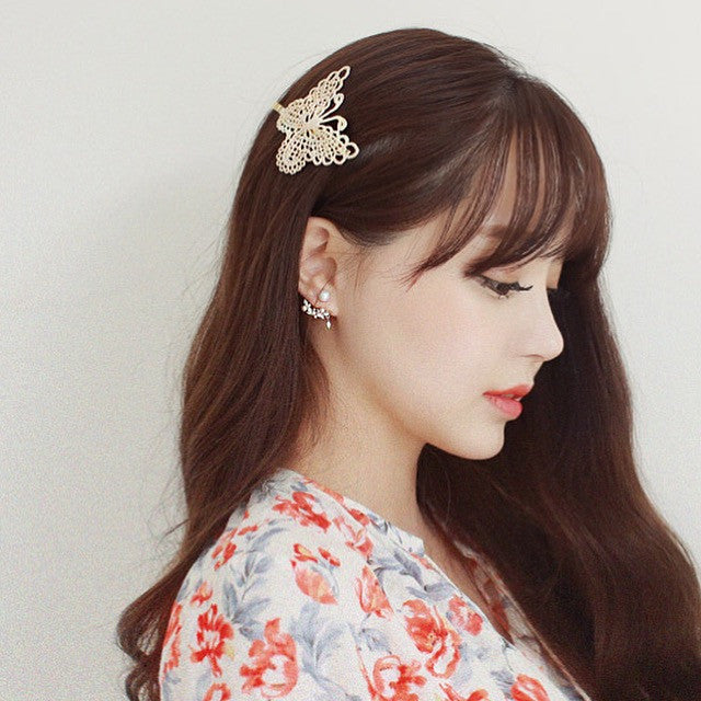 Lace Butterfly Clip Hair Accessory