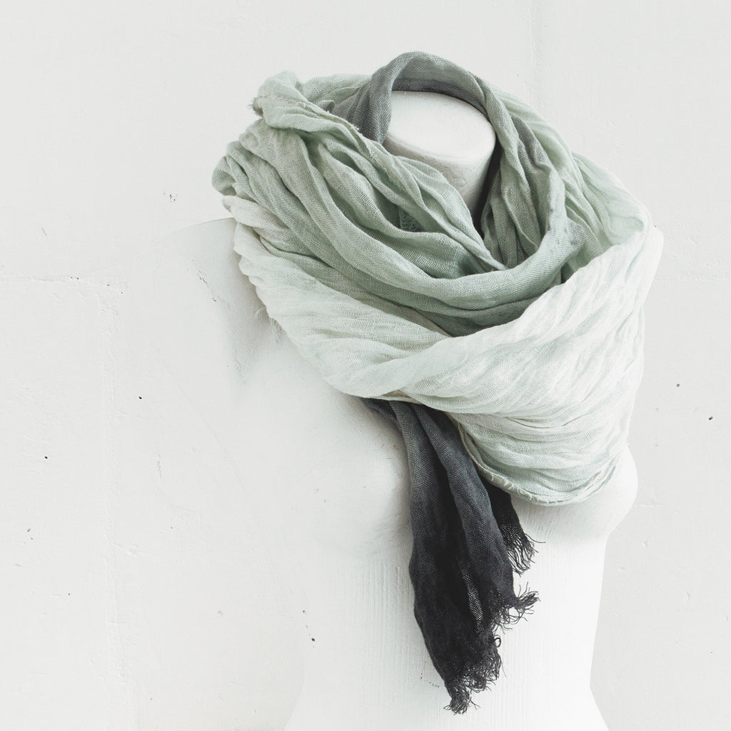 Hand Dyed Linen Scarf - Soul Made Boutique