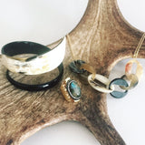 Charismatic Wanderlust Collection - Horn Bangle Cloudy Night - Soul Made Boutique