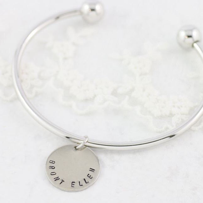 Amor Personalised Collection - Bangle Large Disc - Soul Made Boutique