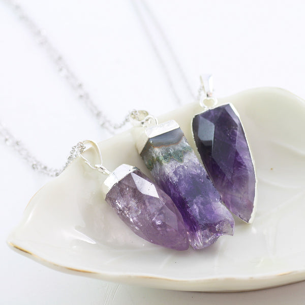Adore Gemstone Collection - Amethyst Necklace - Soul Made Boutique