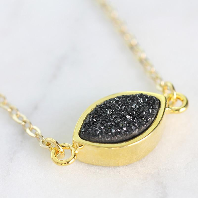 Adore Gemstone Collection - Druzy Connector Necklace - Soul Made Boutique