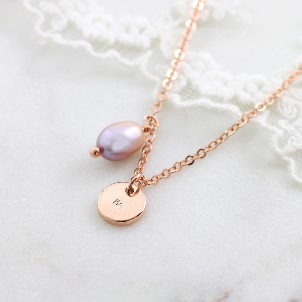 Amor Personalised Collection - Necklace Pearl Teardrop - Soul Made Boutique