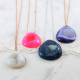 Adore Gemstone Collection - Druzy Teardrop Necklace - Soul Made Boutique