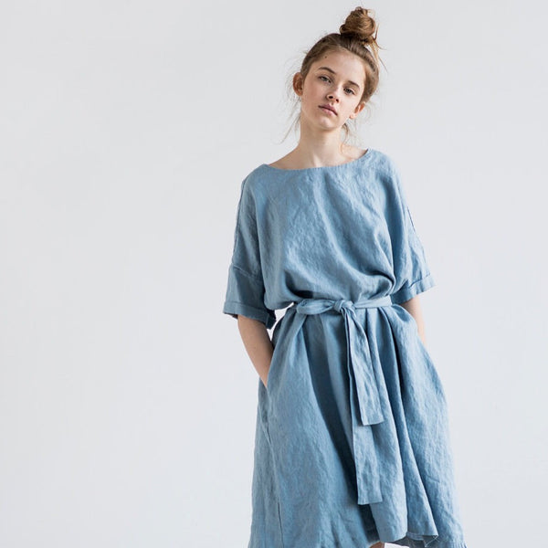 Eliza Oversized Dress with Belt - Soul Made Boutique