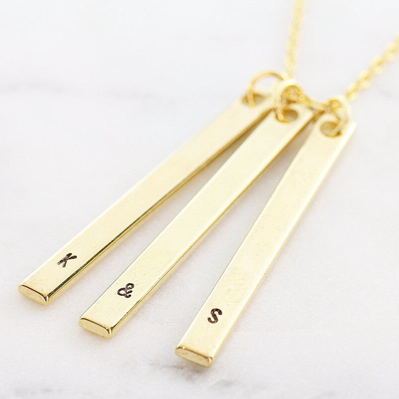 Amor Personalised Collection - Necklace Vertical Bar - Soul Made Boutique