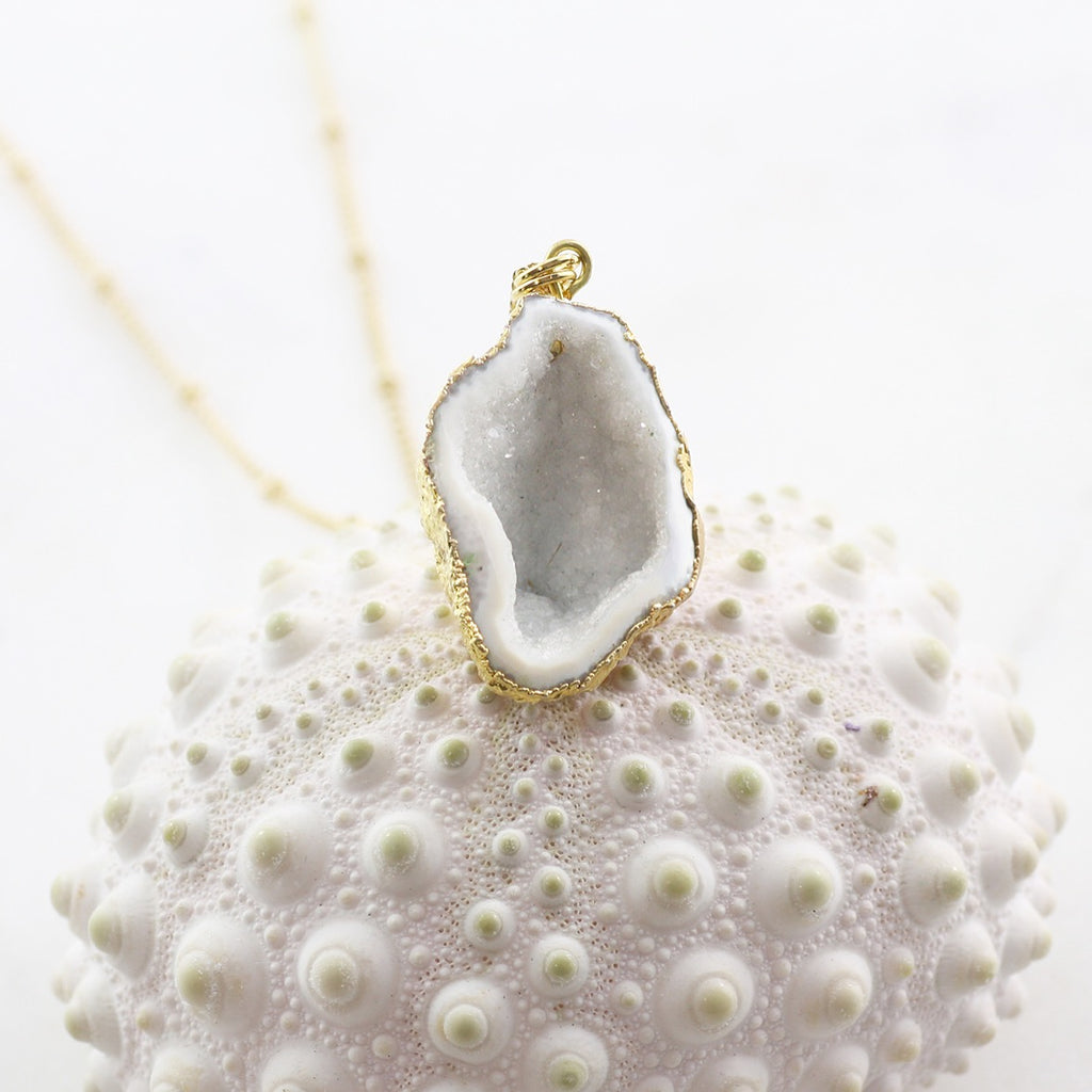 Adore Gemstone Collection - Cave Druzy Necklace - Soul Made Boutique