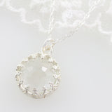 Adore Gemstone Collection - Quartz Round Pendant Necklace - Soul Made Boutique