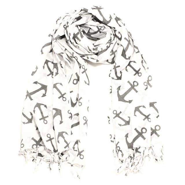 Screen Printed Anchor Scarf