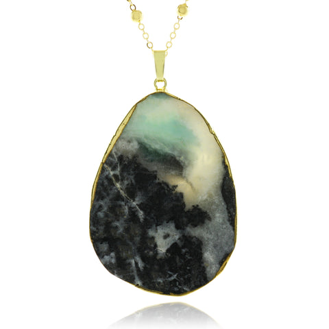 Adore Gemstone Collection - Agate Oval Necklace