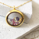 Amor Personalised Collection - Necklace Heart Locket Gemstone - Soul Made Boutique