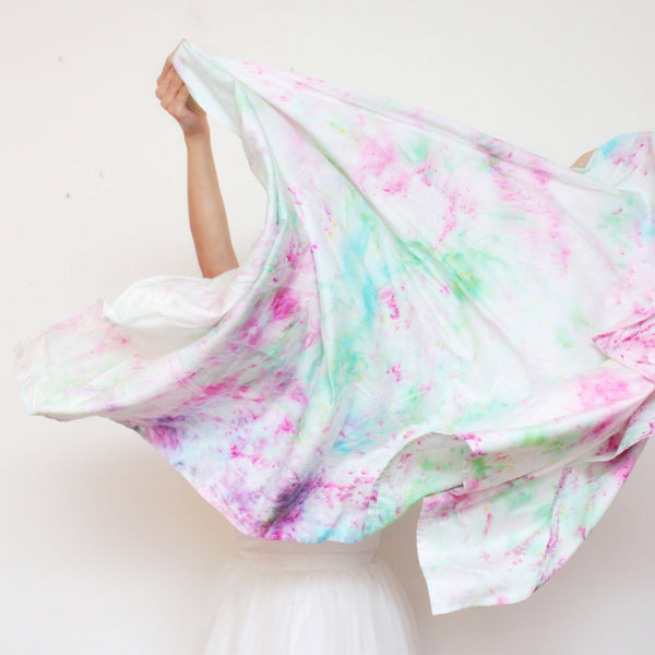 Watercolor Hand Dyed Unique Scarf
