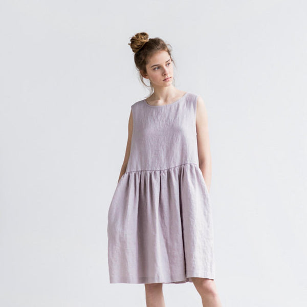 Nicole Simple Linen Dress