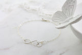 Amor Personalised Collection - Bracelet Sterling Silver Pearl Infinity - Soul Made Boutique