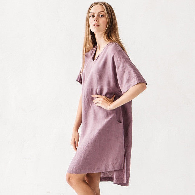 Eli V Neck Linen Dress