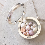 Amor Personalised Collection - Necklace Heart Locket Pearl - Soul Made Boutique