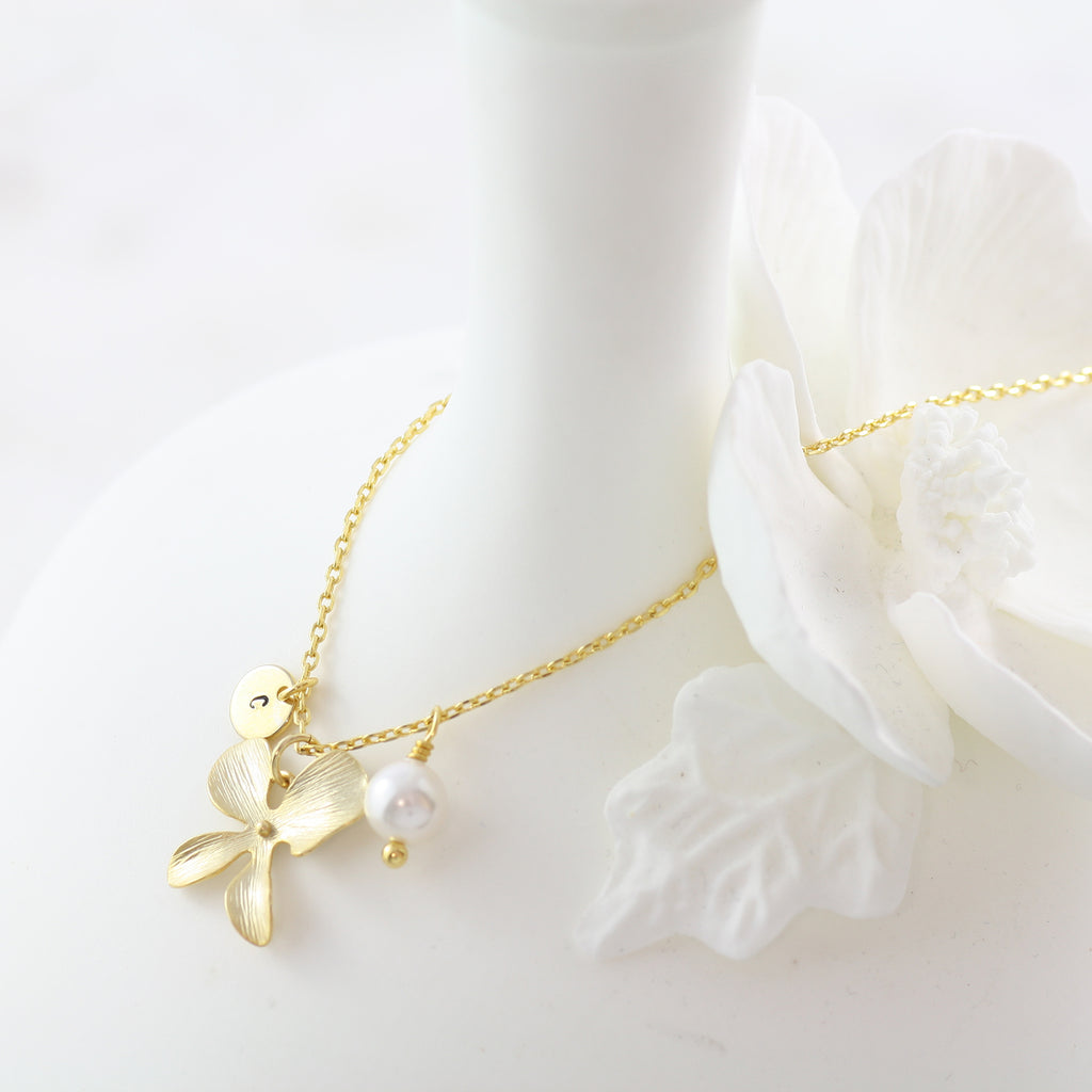 Amor Personalised Collection - Necklace Pearl Orchid