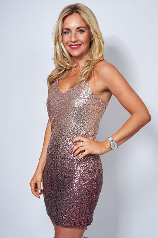 Dalia Pink Sequin Dress