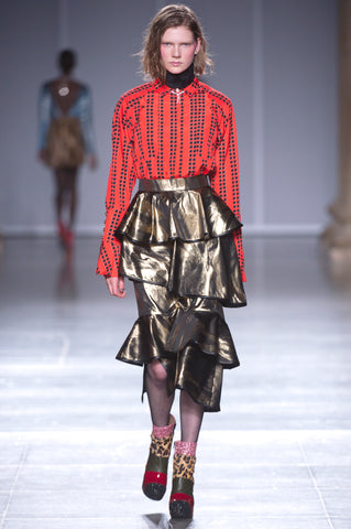Ruffle trend on the catwalk
